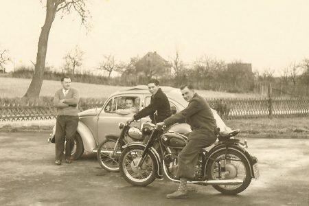 Fahrschule Lautenschläger: Motorradfahrstunde 1970er